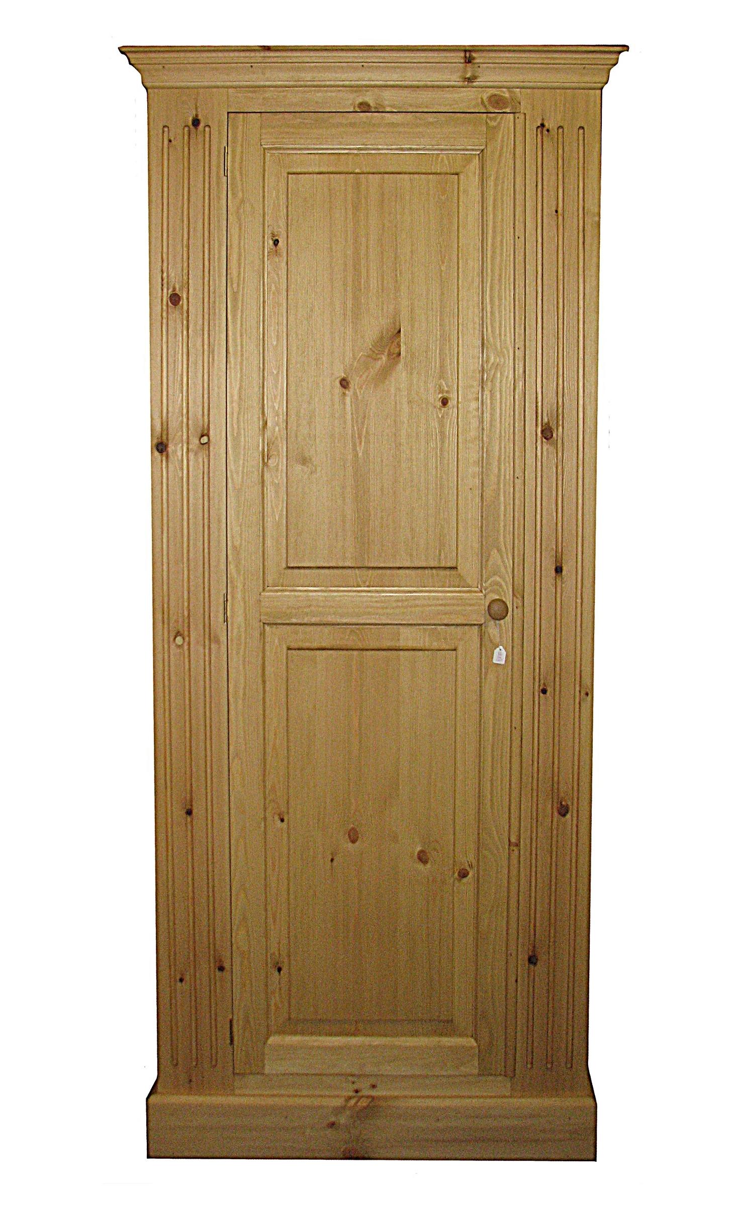 Current Single Pine Wardrobes Pertaining To Wardrobes – Kerris Farmhouse Pine (View 12 of 15)