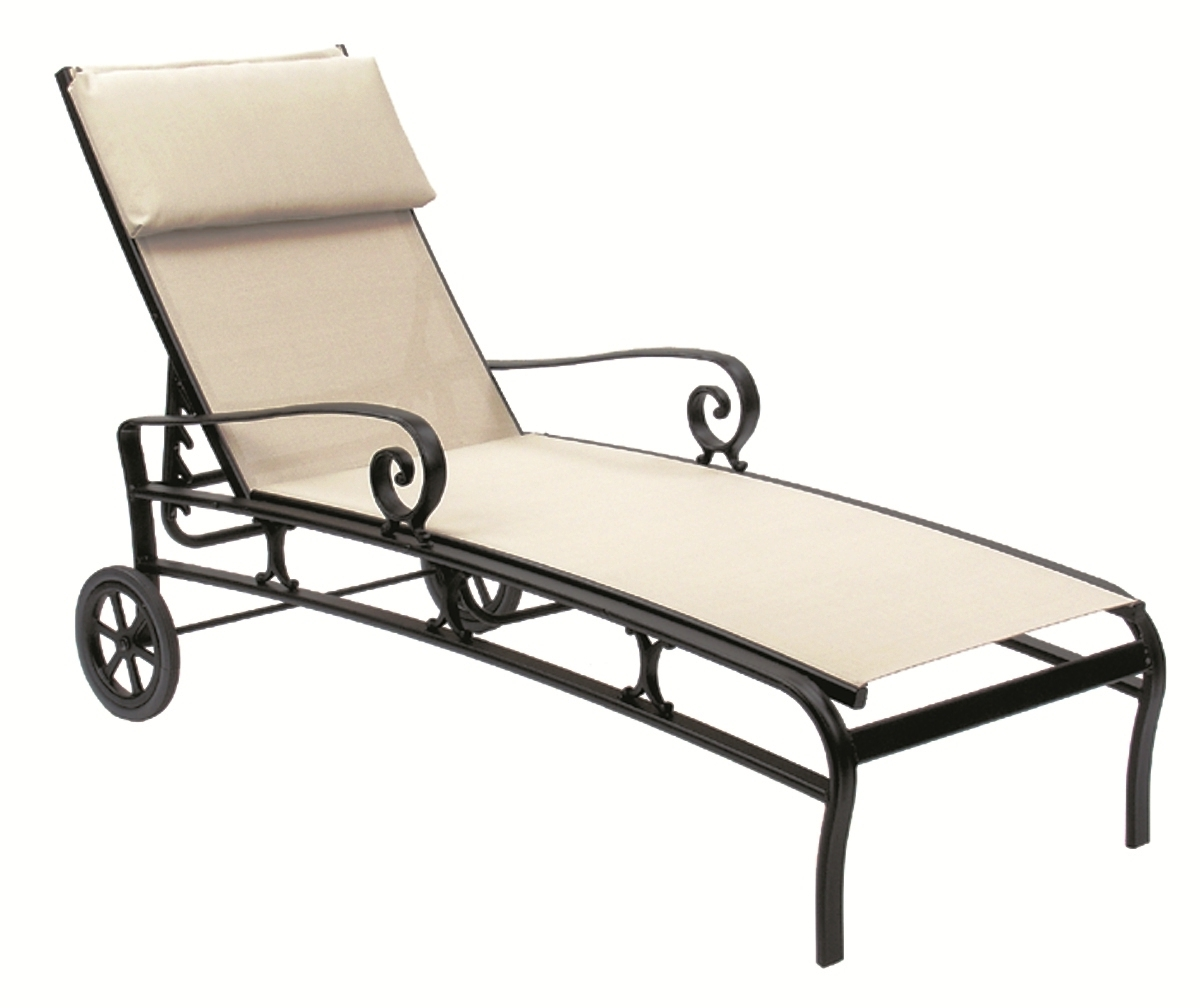 Current Sling Chaise Lounges Regarding Sling Chaise Lounge Chair Decoration (View 2 of 15)