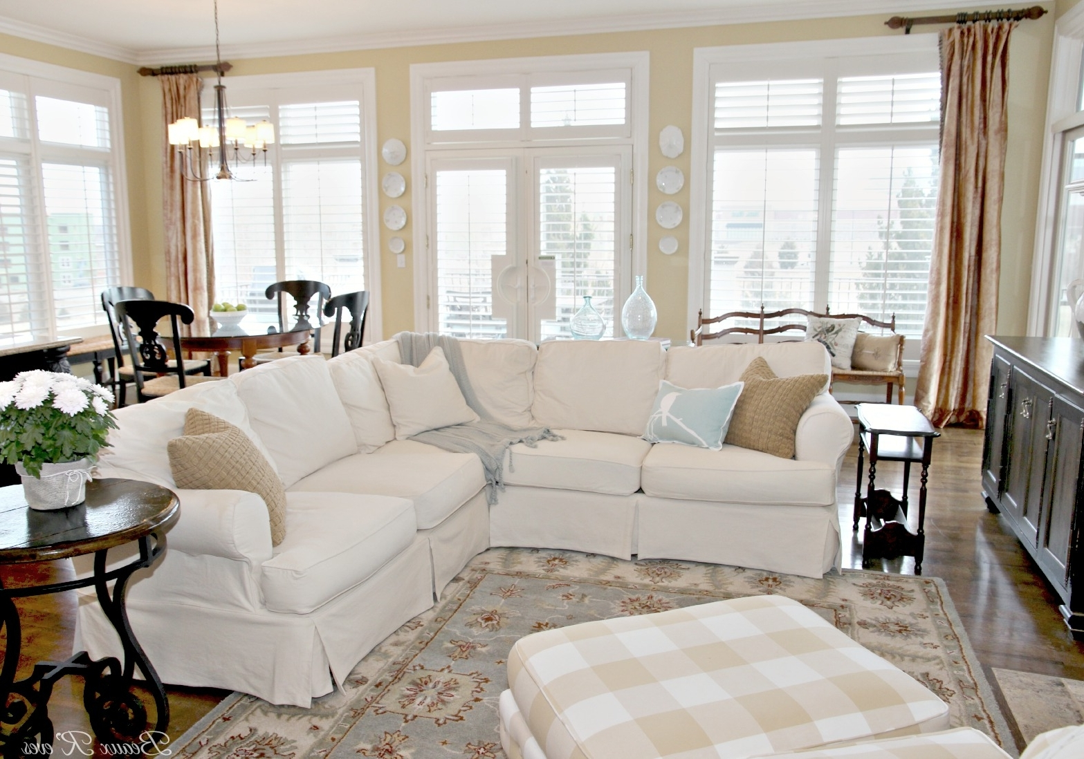 Current Slipcovered Sofas With Chaise Inside Beaux R'eves: Pottery Barn Knock Off Jcpenney Slipcovered (View 15 of 15)