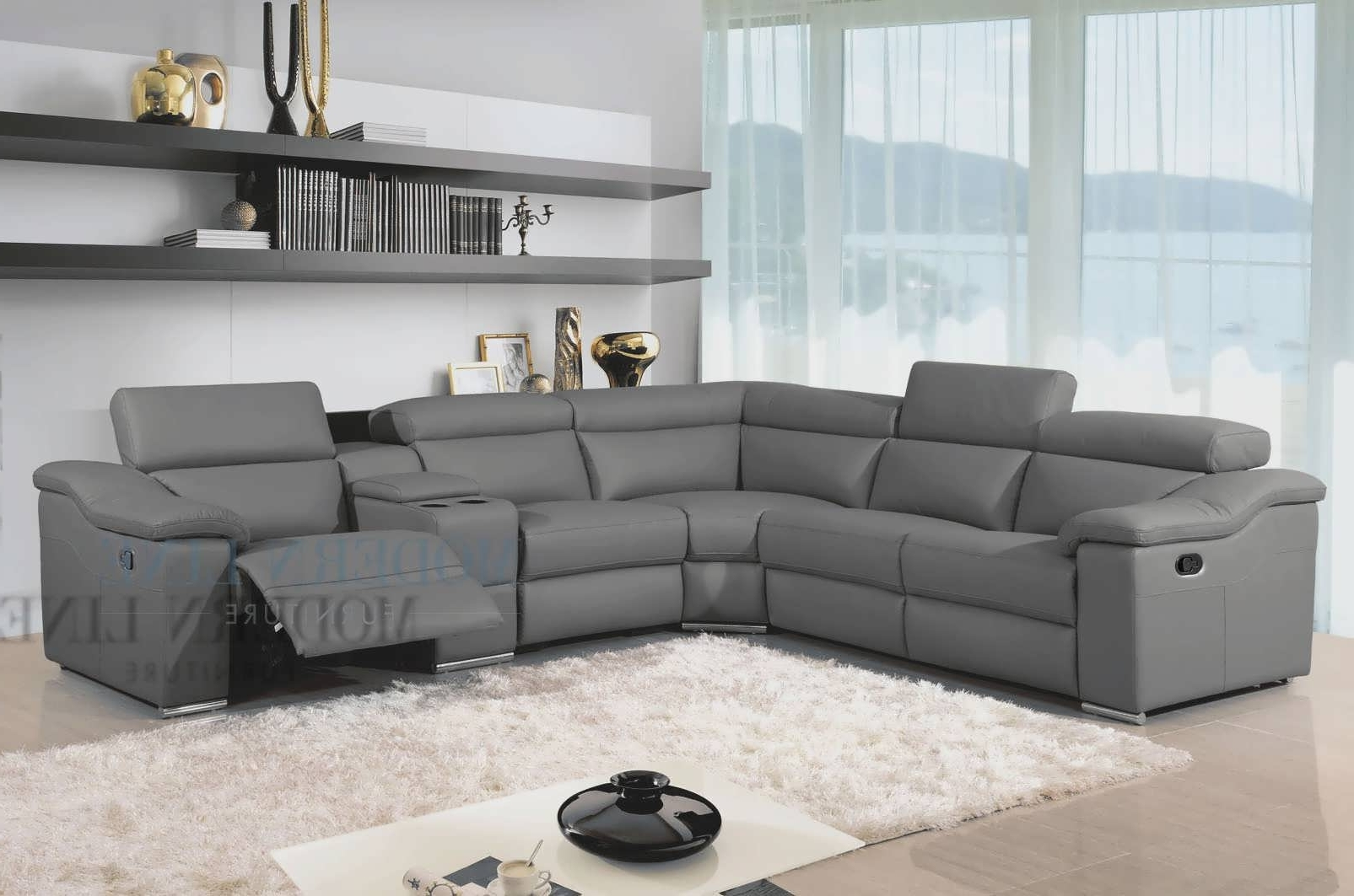 Current Sofa : Gray Leather Sectional With Chaise Gray Sofas And For Grey Sectionals With Chaise (View 5 of 15)