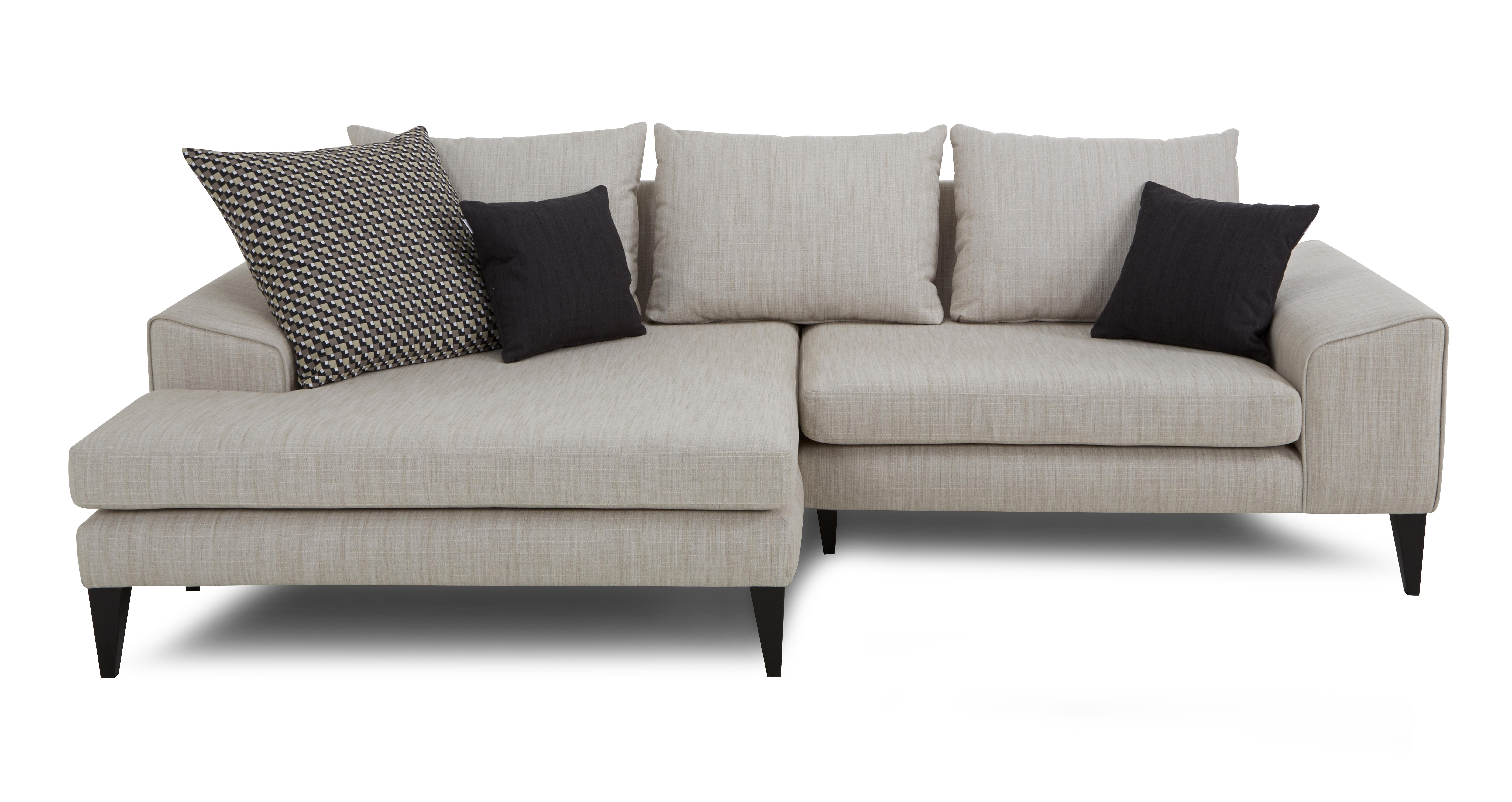 Current Sofa : Grey Chaise Sofa Darcy Graygreyunge Light Sectional With In Small Chaise Sofas (View 15 of 15)