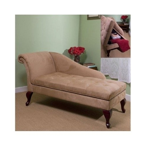 Current Sofa Lounge Chairs Pertaining To Amazon: Chaise Chair Lounge Sofa With Storage For Living Room (View 4 of 10)