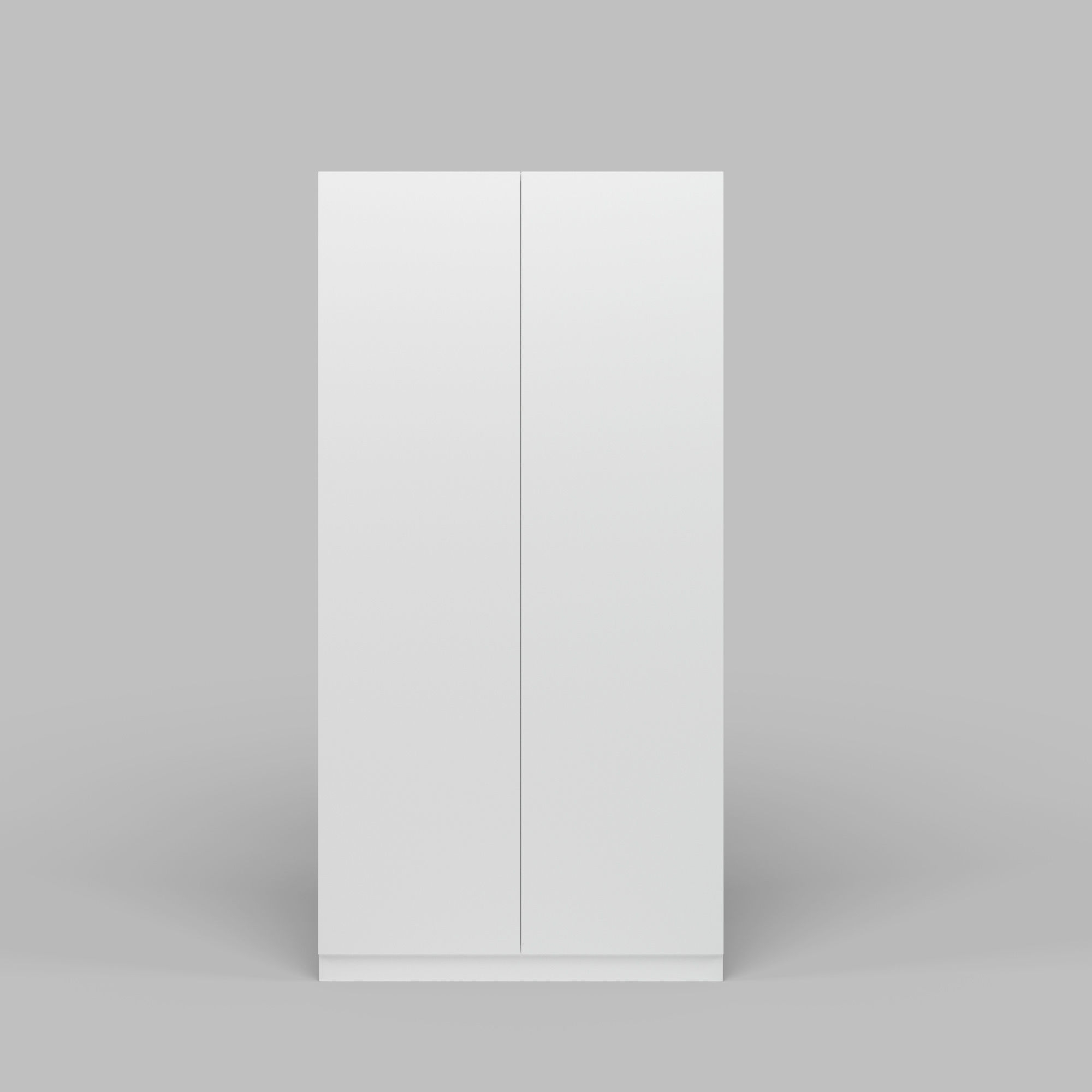 Current Two Door White Wardrobe 3d (View 14 of 15)