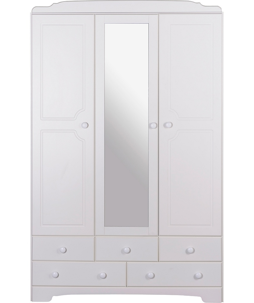 Current White 3 Door Mirrored Wardrobes Inside Buy Heart Of House Avignon 3 Door Mirrored Wardrobe – White At (View 3 of 15)