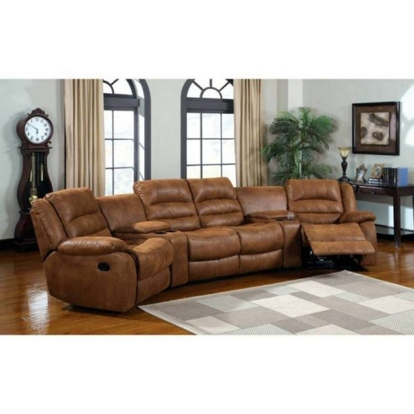 Curved Reclining Sofa (View 2 of 10)