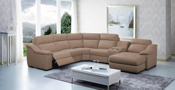 Curved Sectional Sofas With Recliner In Most Recently Released Sectional Sofas : Curved Sectional Sofa With Recliner – Sofa Beds (View 6 of 10)