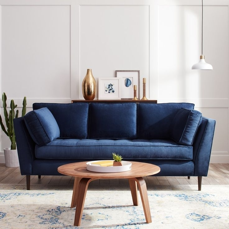 Dark Blue Sofas Inside Trendy Living Room : Navy Blue Sofa Sofas Living Room Dot Sleeper Throw (View 6 of 10)