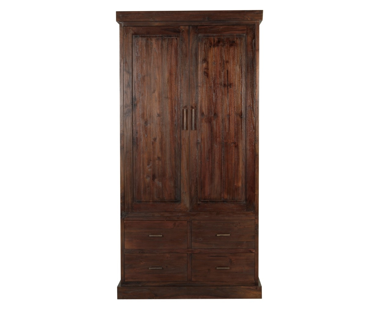 Dark Brown Wardrobes Intended For Popular Painting A Dark Wood Wardrobe Solid Wardrobes Ikea Single Door (View 7 of 15)
