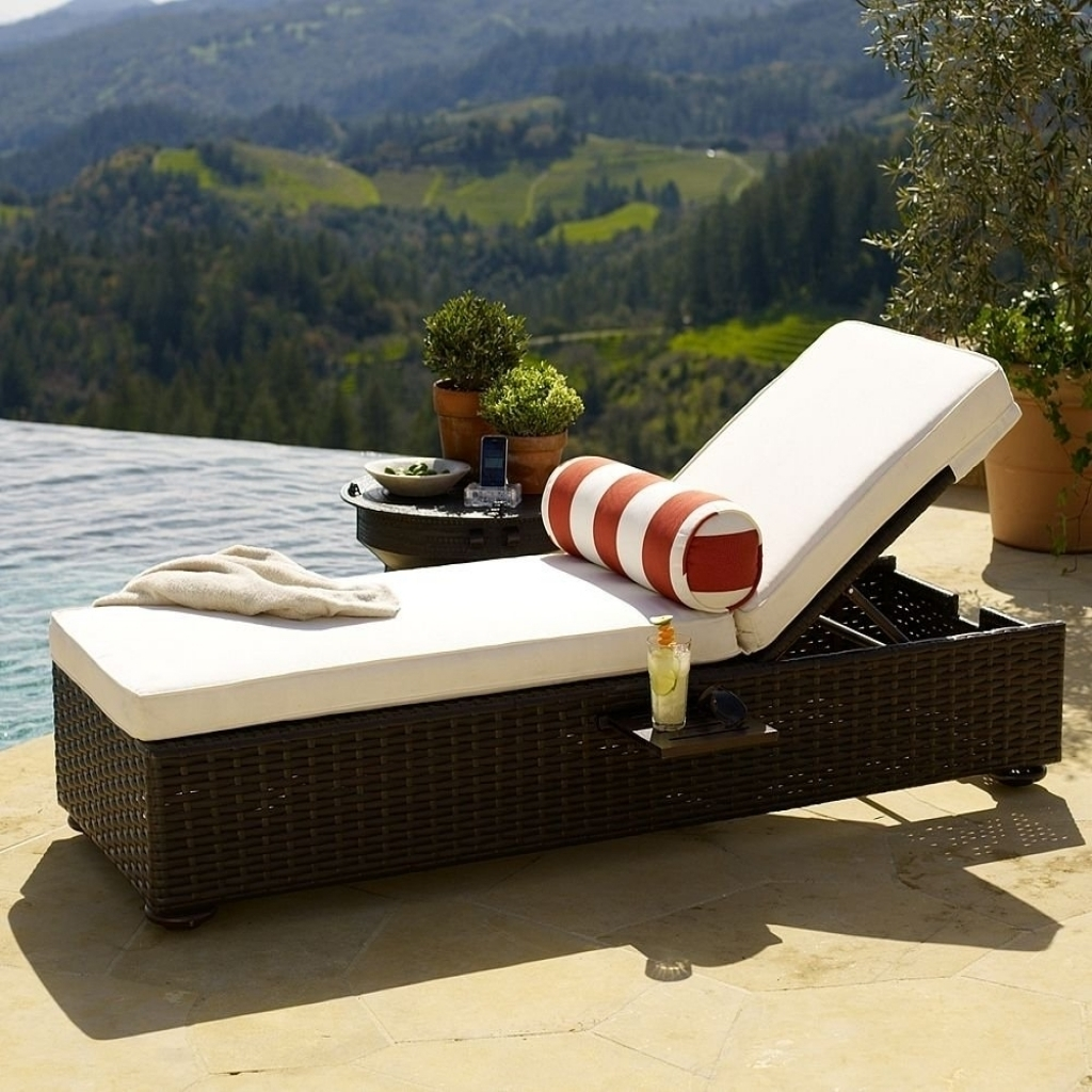 Deck Chaise Lounge Chairs Inside Latest Rattan Outdoor Chaise Lounge Chairs — Optimizing Home Decor Ideas (View 9 of 15)