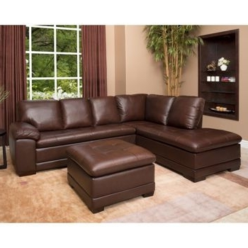 Decorating Pertaining To Leather Sectionals With Ottoman (View 3 of 10)