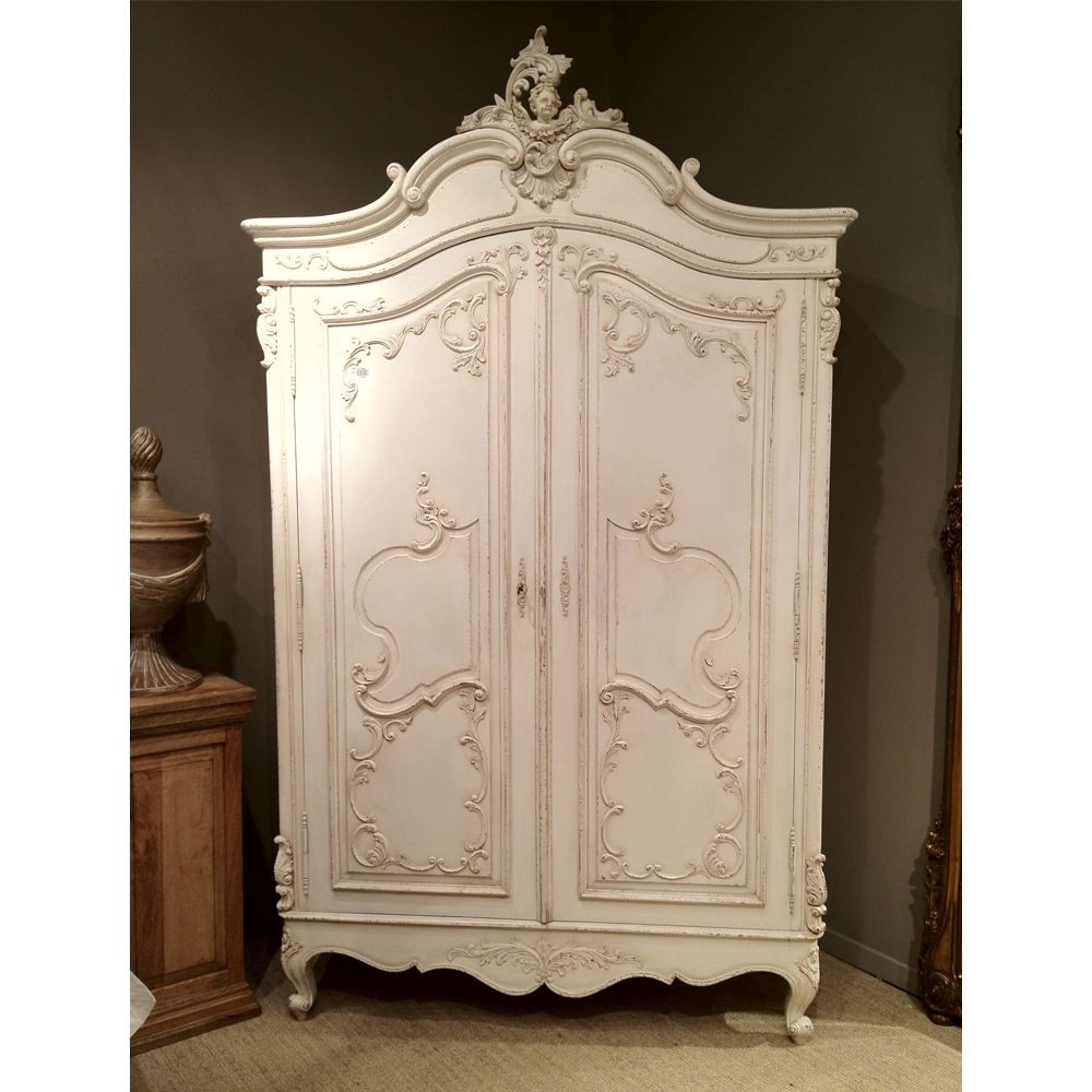 Delphine Distressed Shabby Chic Armoire (View 4 of 15)