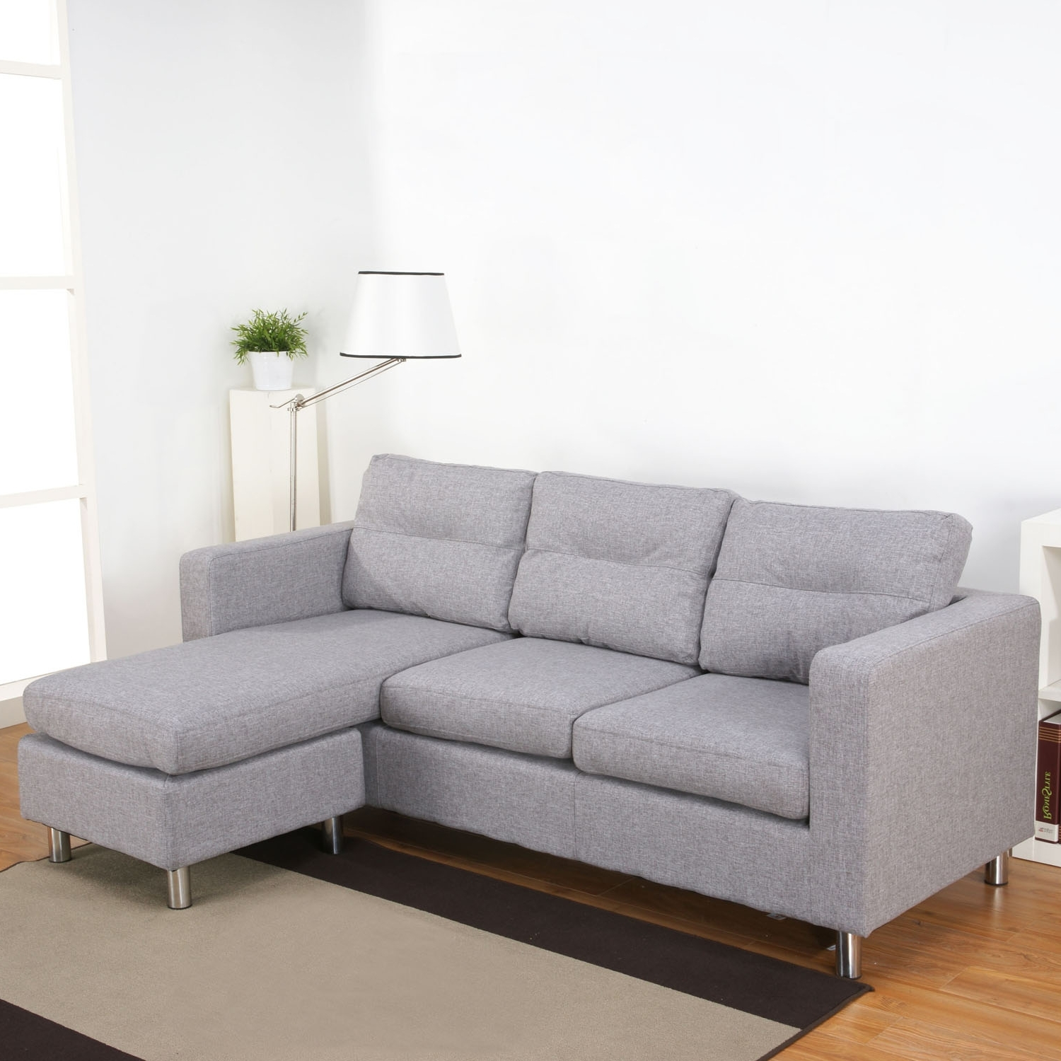 Designs Ideas And Decors : How Within Current Grey Sofa Chaises (View 3 of 15)