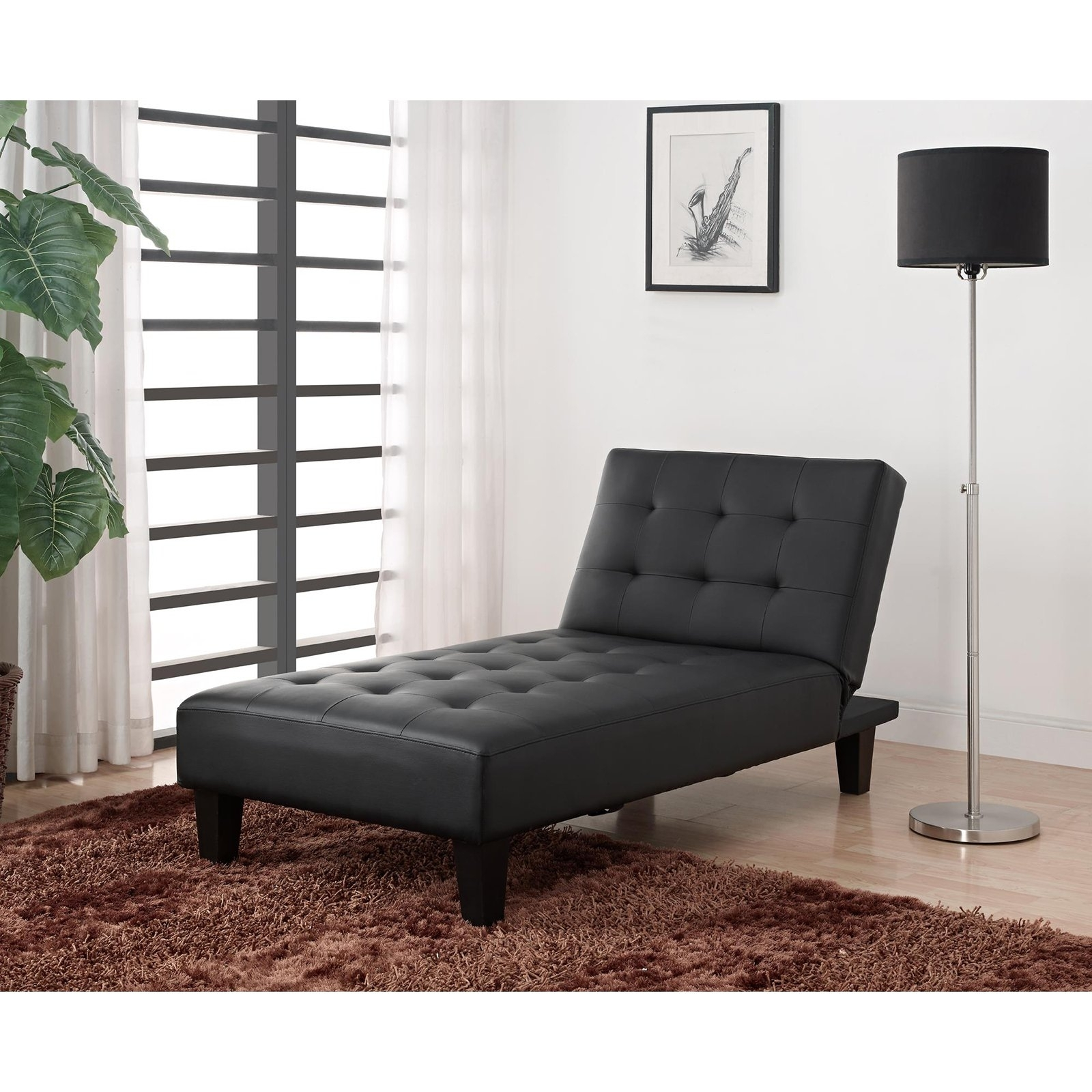 Dhp Emily Faux Leather Chaise Lounge (View 3 of 15)