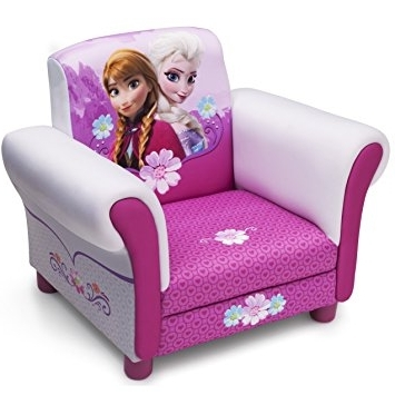 Disney Sofa Chairs For Fashionable Amazon: Childs Disney Frozen Anna & Elsa Arm Chair Upholstered (View 5 of 10)