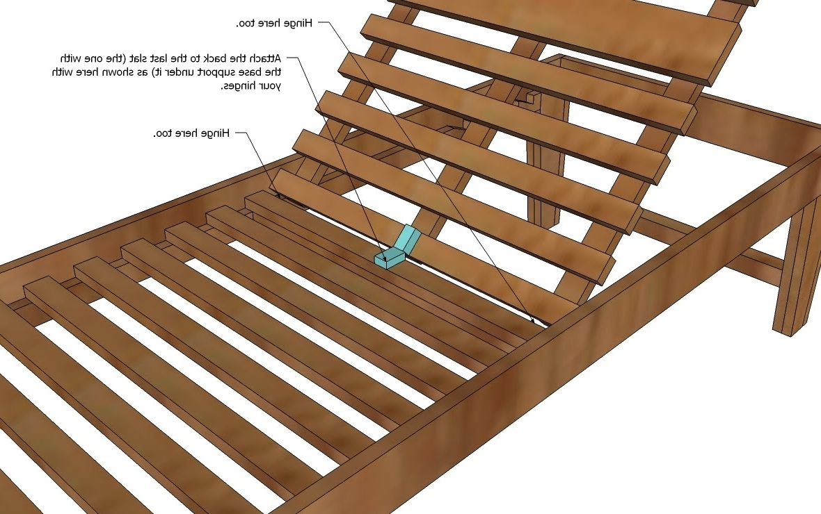 Diy Chaise Lounge Chairs Within Widely Used Wooden Chaise Lounge Chairs Plans • Lounge Chairs Ideas (View 5 of 15)