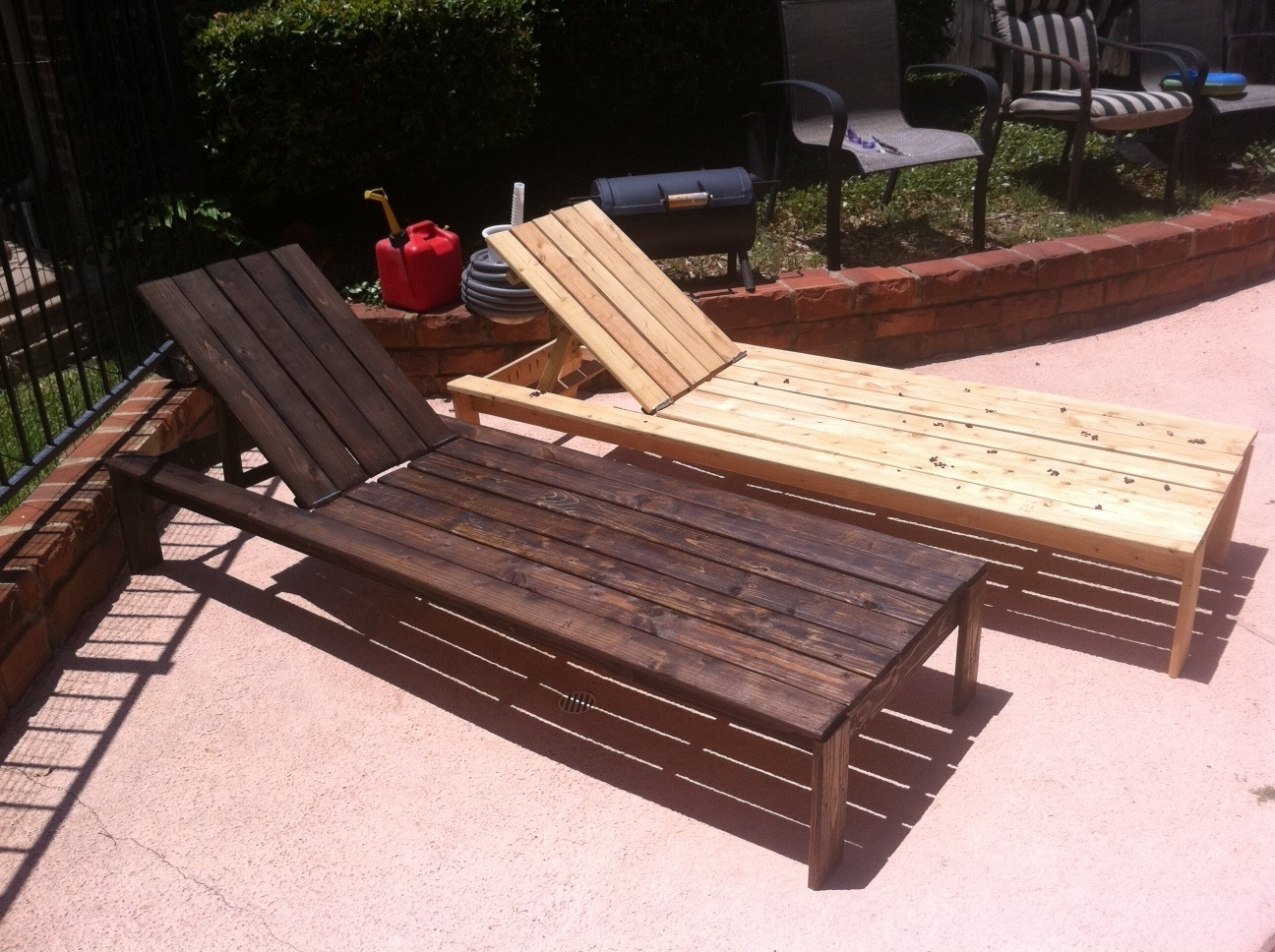Diy Pool Chaise Lounge Chairs — Bed And Shower : Decorating Pool For Most Popular Diy Outdoor Chaise Lounge Chairs (View 2 of 15)