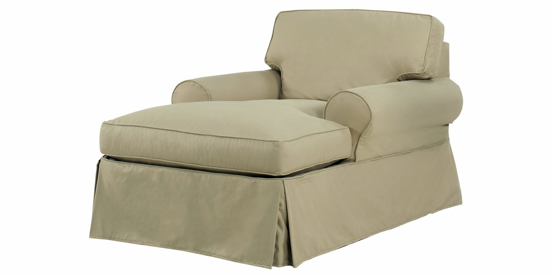 Double Chaise Lounge Chair Cover • Lounge Chairs Ideas Inside Most Recently Released Chaise Lounge Chairs With Arms Slipcover (View 1 of 15)