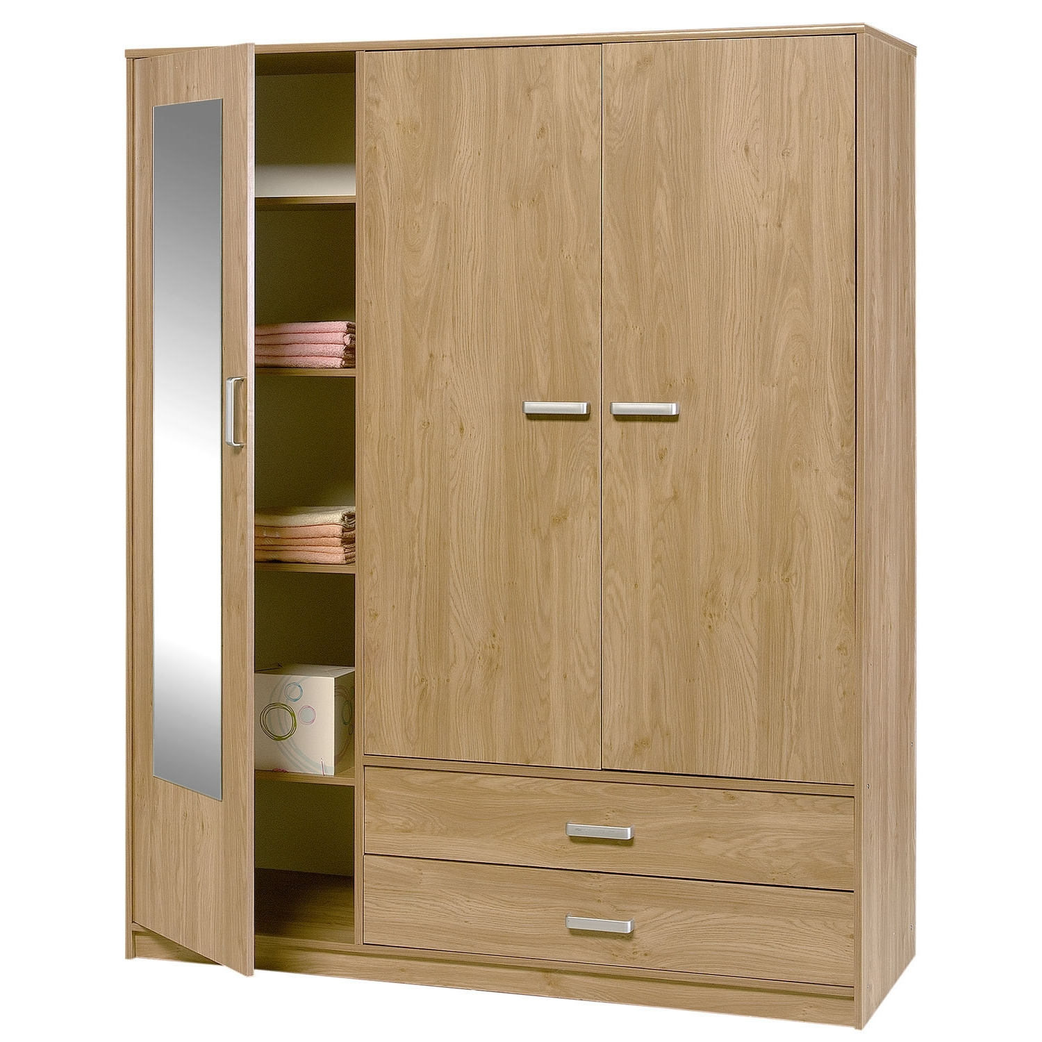 Featured Photo of Three Door Wardrobes With Mirror