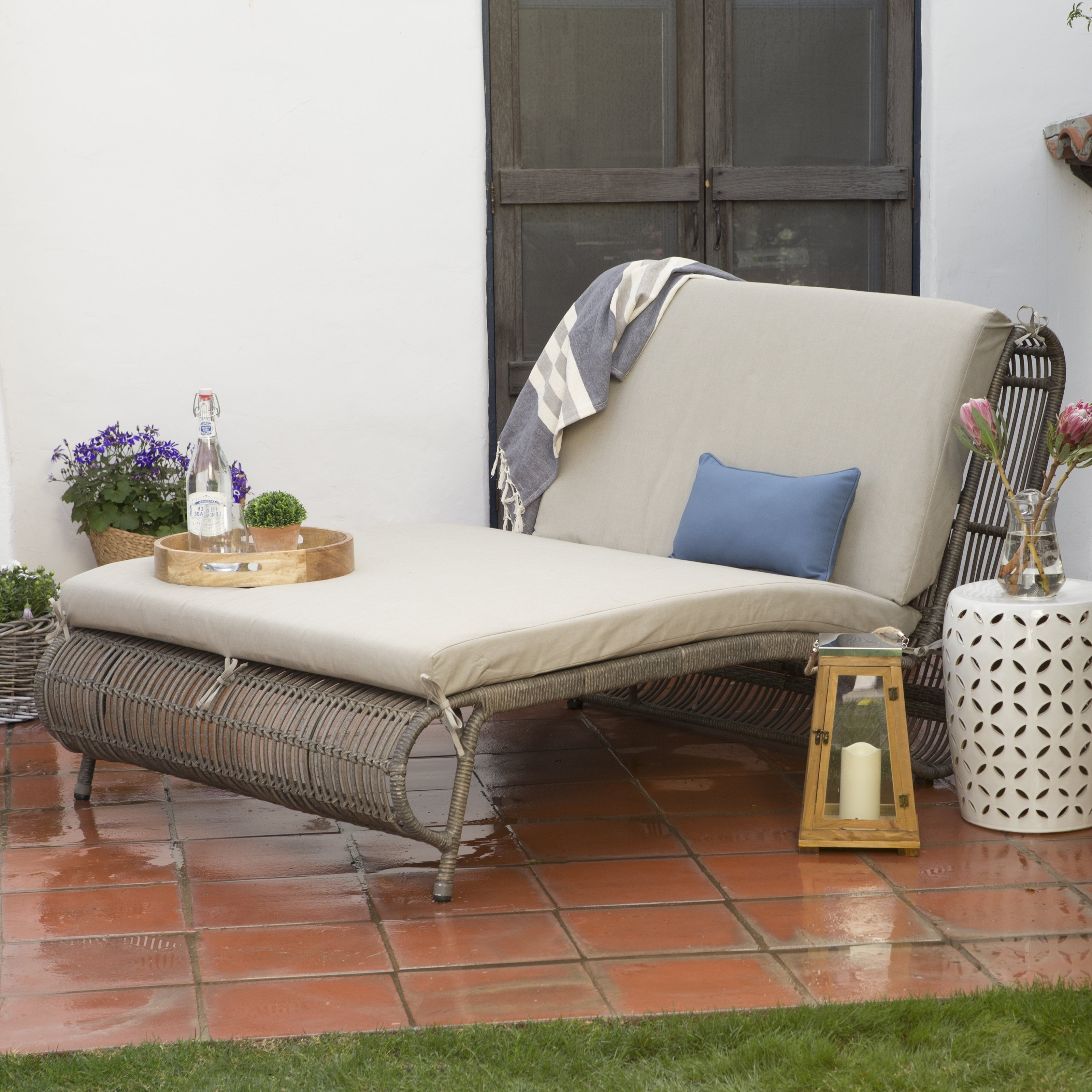 Double Outdoor Chaise Lounges Throughout Well Known Lounge Chair : Lounge Discount Outdoor Chaise Lounge Outdoor (View 7 of 15)