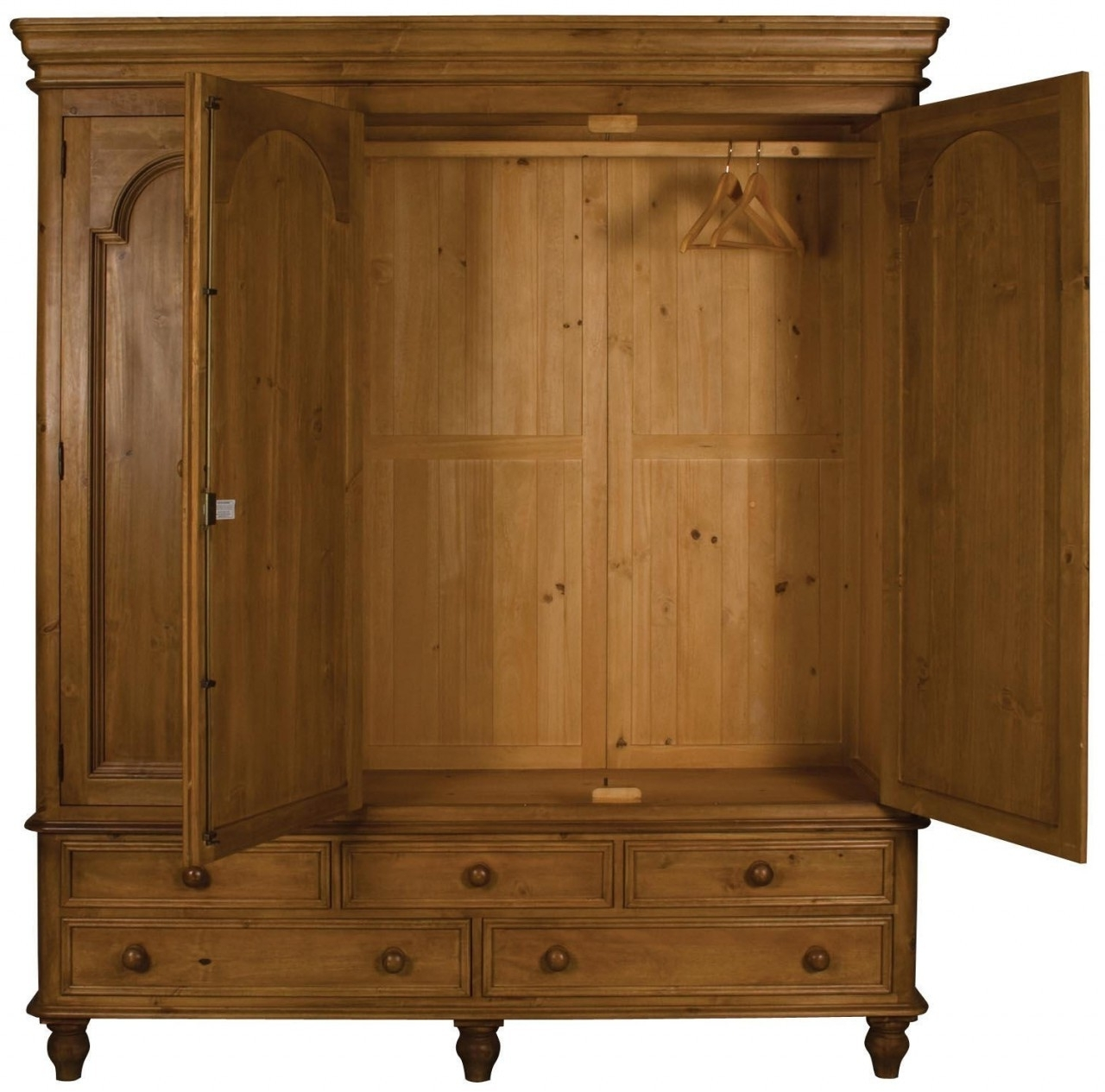 Double Pine Wardrobes For Latest Ascot Triple Wardrobe W3As (View 3 of 15)