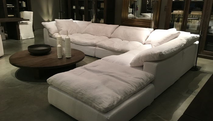 Down Feather Sectional Sofa (View 4 of 10)