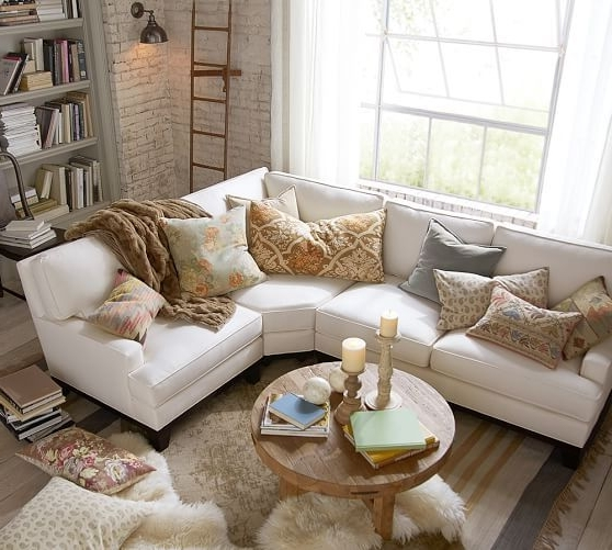 Down Sectional Sofas Inside Trendy Seabury Upholstered Right Arm 3 Piece Wedge Sectional, Down Blend (View 2 of 10)