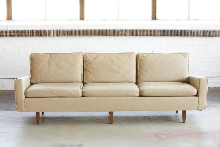 Early Florence Knoll Sofa Model # 26d From 1967 With Original With Well Known Florence Knoll Fabric Sofas (View 5 of 10)