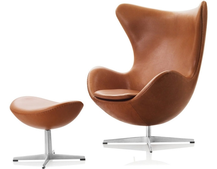 Egg Chair & Ottoman – Hivemodern Intended For Most Up To Date Chairs With Ottoman (View 3 of 10)