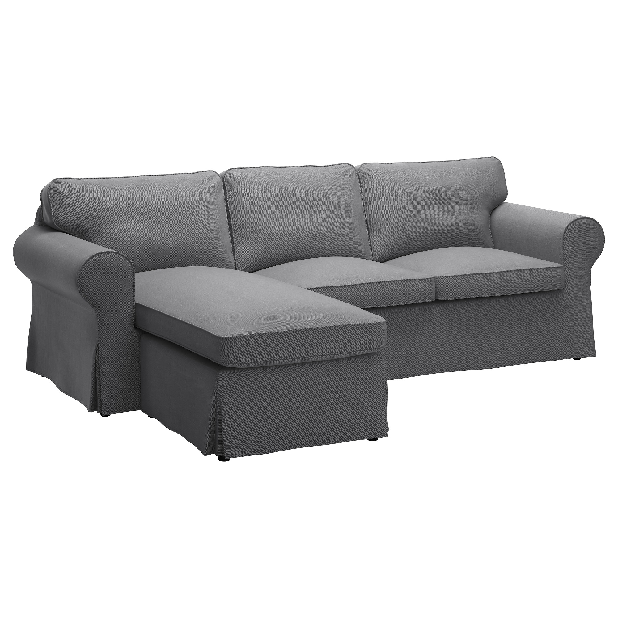 Ektorp Cover For Sofa – With Chaise/lofallet Beige – Ikea Intended For 2018 Sofas With Chaise Lounge (View 5 of 15)