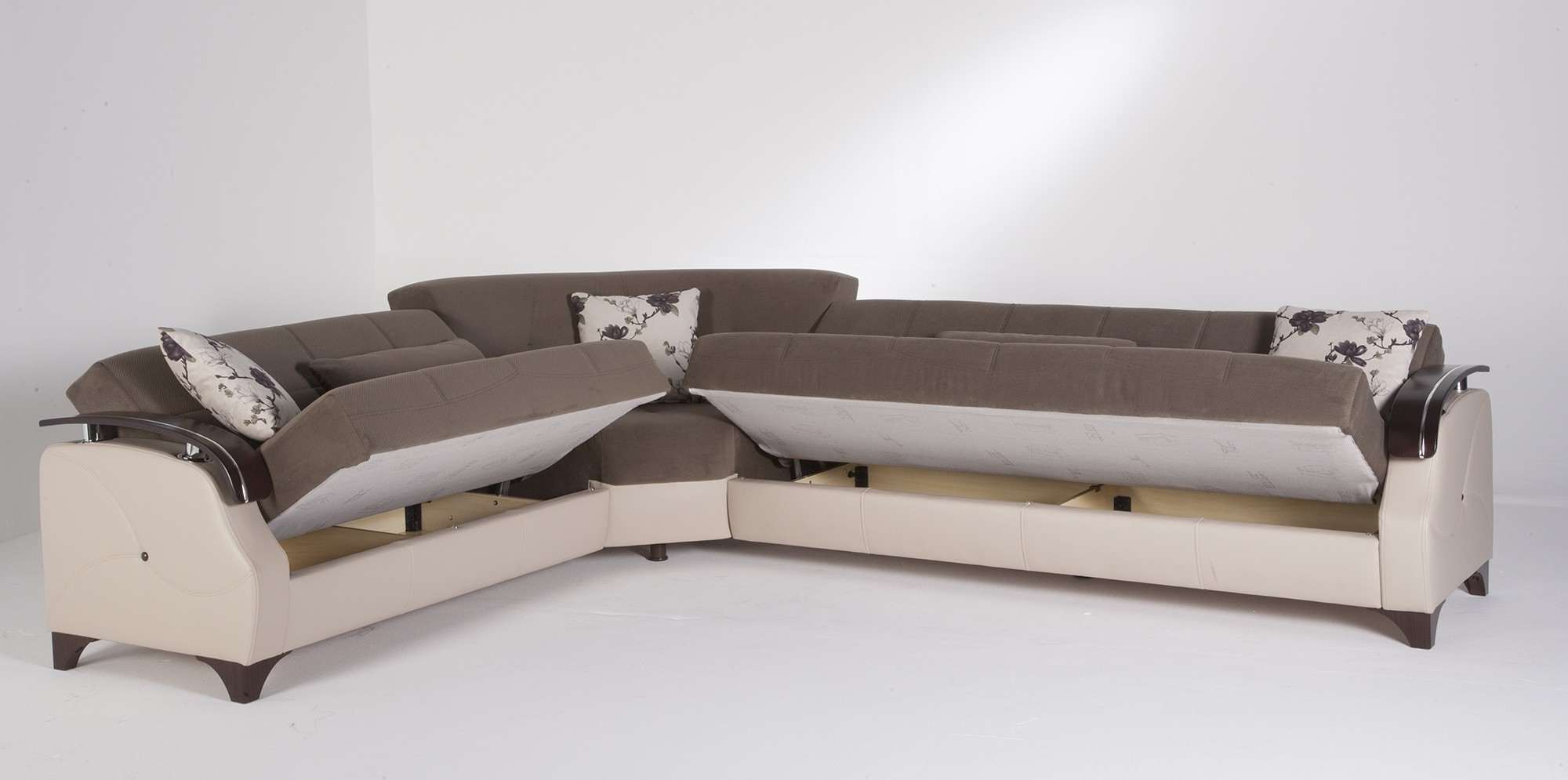 Elegant And Exclusive Modern Sleeper Sofa — The Home Redesign Within Most Recent Sectional Sleeper Sofas With Chaise (View 3 of 15)