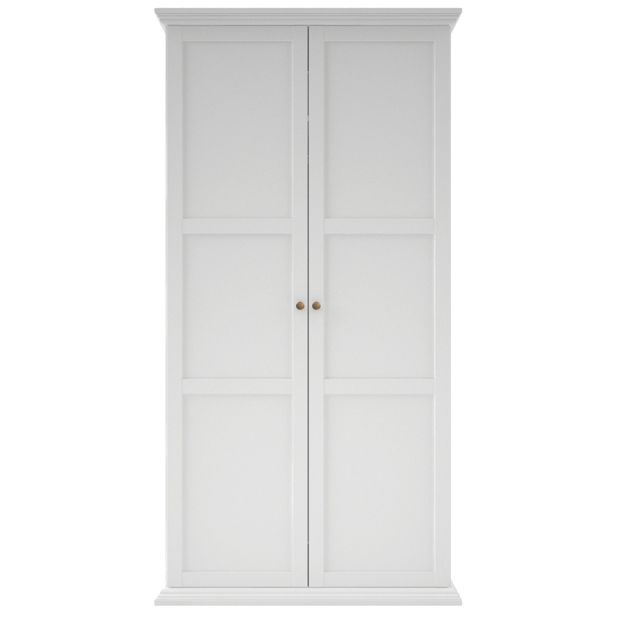 Elegant White Two Door Wardrobe – Badotcom Throughout Well Known Two Door White Wardrobes (View 2 of 15)