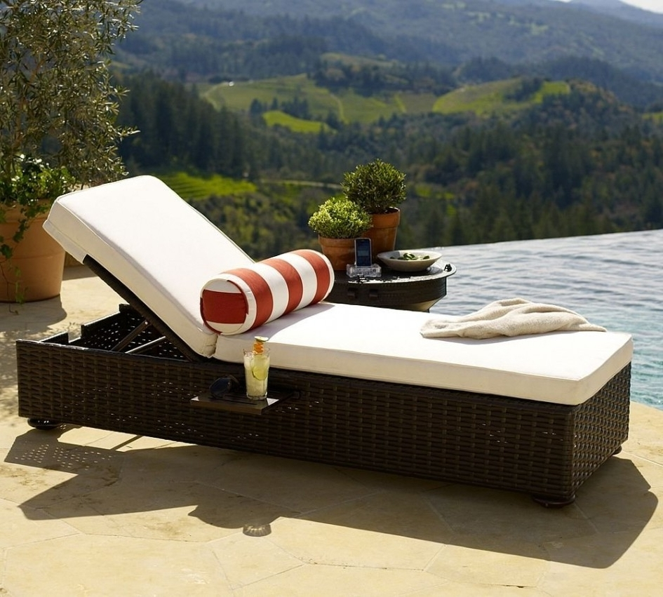 Eliana Outdoor Brown Wicker Chaise Lounge Chairs Intended For Famous Orange Patio Lounge Chair • Lounge Chairs Ideas (View 5 of 15)
