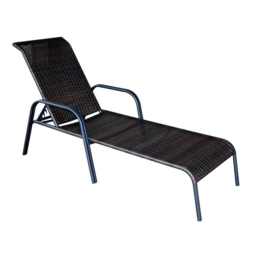 Eliana Outdoor Brown Wicker Chaise Lounge Chairs (Set Of 2 For Newest Eliana Outdoor Brown Wicker Chaise Lounge Chairs (View 3 of 15)
