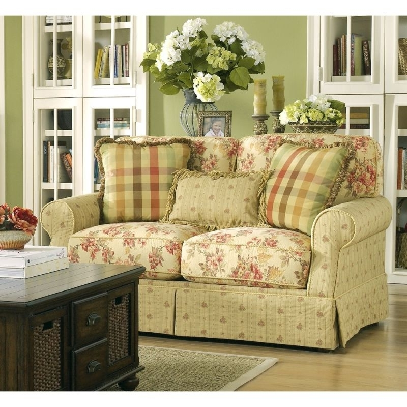 Ella – Spice Loveseat 6800135, Ashley Furniture – Rooms And Things With Well Liked Yellow Chintz Sofas (View 9 of 10)