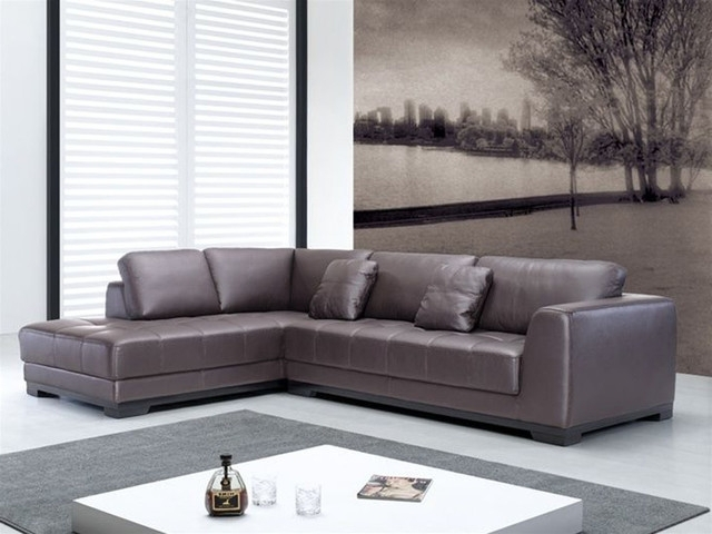 Featured Photo of Leather L Shaped Sectional Sofas