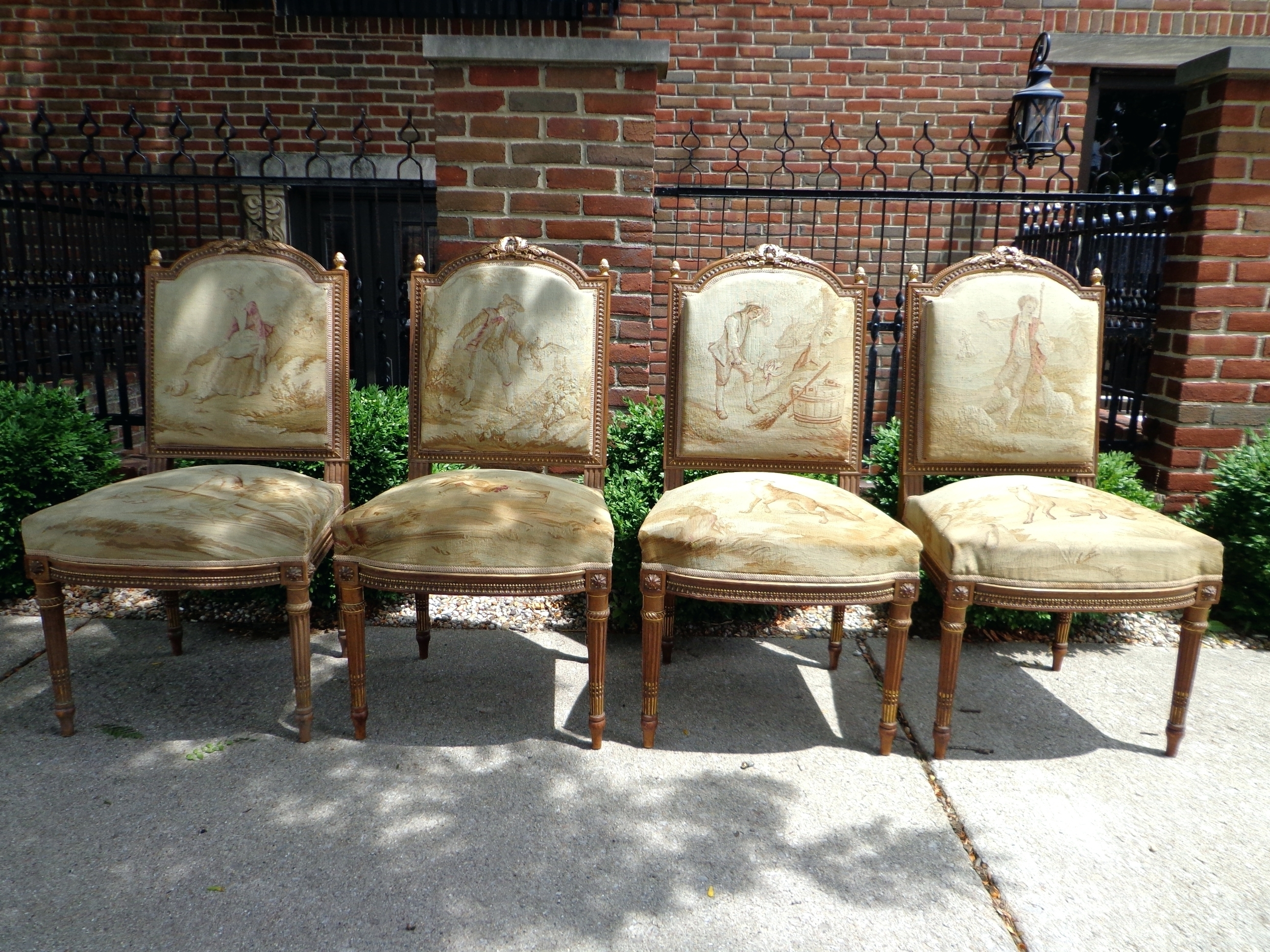European Chaise Lounge Chairs Pertaining To Recent Antique French Aubusson Set Of Four Chairs European Style Lounge (View 5 of 15)