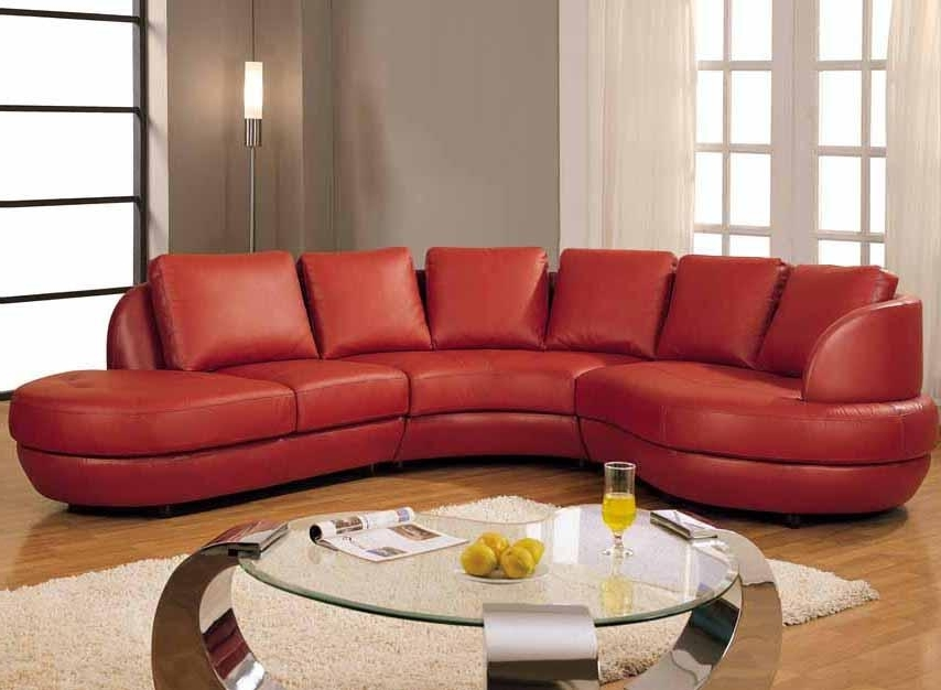 Excellent Stylish Red Leather Sectional Sofa With For Sofas Inside Current Red Leather Sectional Couches (View 4 of 10)