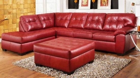 Exist Decor Inside Popular Red Leather Sectionals With Chaise (View 2 of 10)