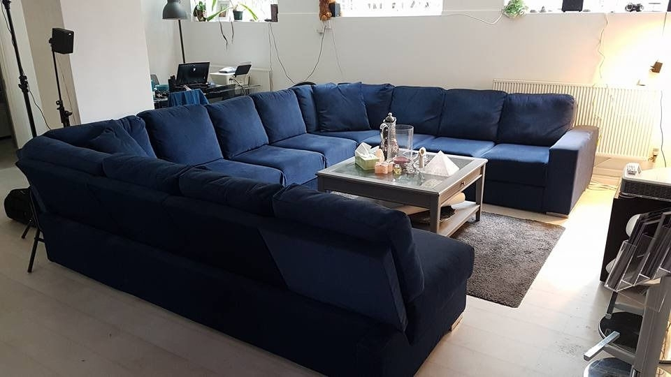 Extra Large U Shaped Sectionals With Regard To Current Extra Large U Shaped Sofa With Fold Out Double Bed (Seats  (View 2 of 10)