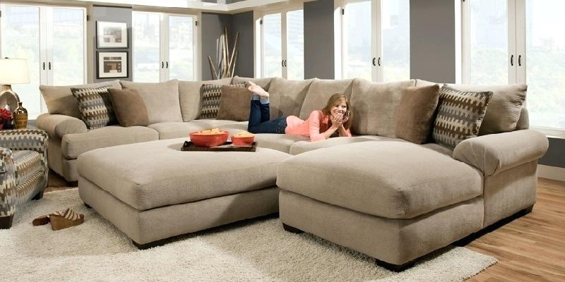 Extra Wide Sectional Sofa For Large Sofas With In Prepare 9 Within Recent Wide Seat Sectional Sofas (View 2 of 10)