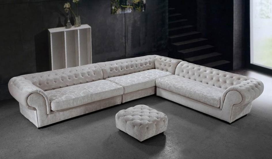 Fabric With Regard To Modern Microfiber Sectional Sofas (View 6 of 10)