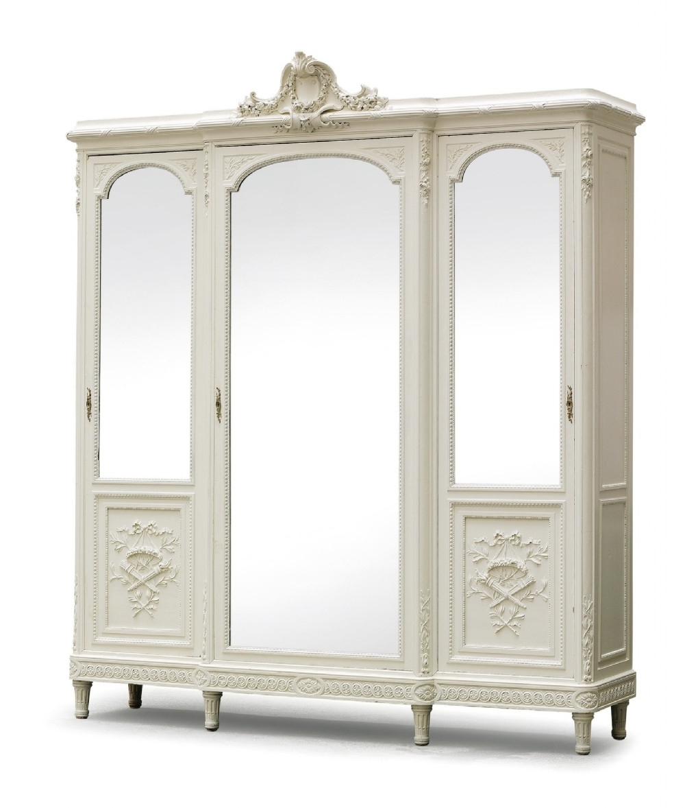 Fabulous (Flatpack) Breakfront Louis Xv Style French Painted For Most Up To  Date French