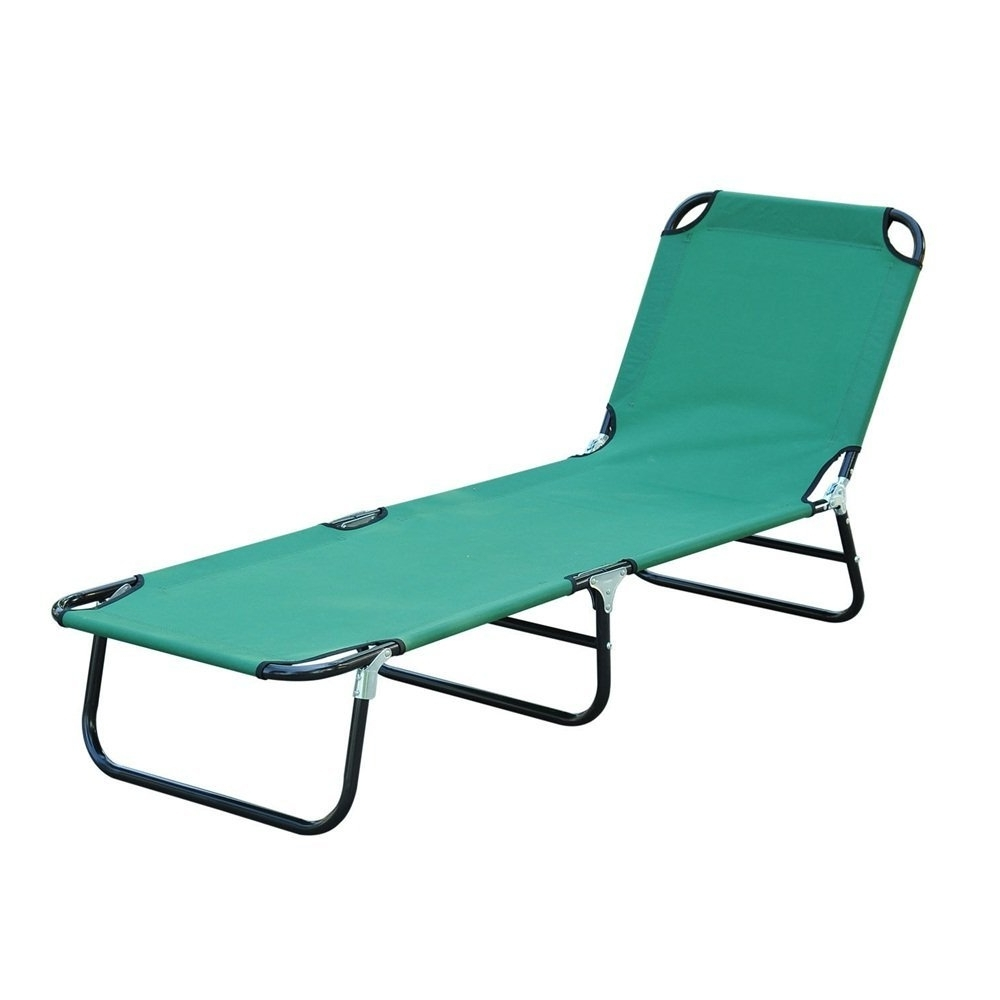 Famous Amazon: Cot Bed Beach Pool Outdoor Sun Durable Folding Chaise For Folding Chaise Lounge Chairs (View 3 of 15)
