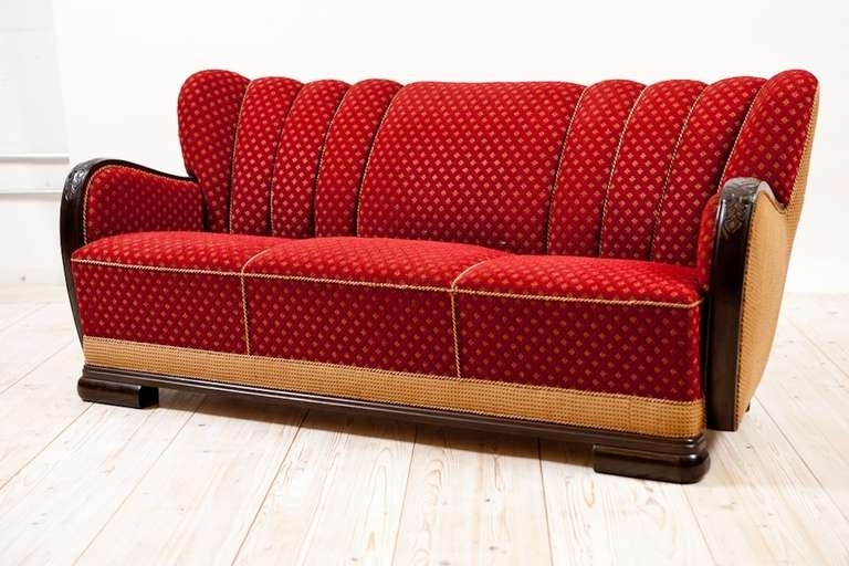 Famous Art Deco Sofas Within Art Deco Sofa Frame In Mahogany, C (View 3 of 10)