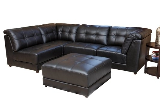 Famous Awesome Black Leather Modular Sectional Gallery – Liltigertoo With Leather Modular Sectional Sofas (View 2 of 10)