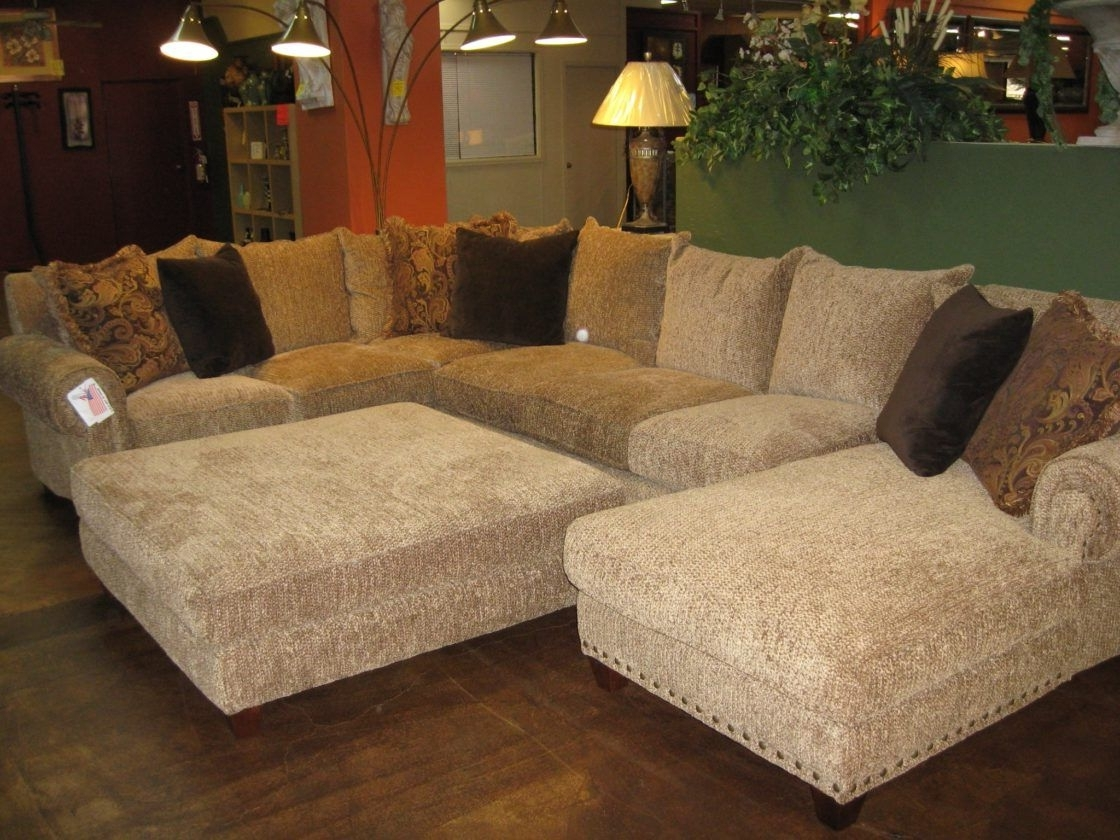Famous Beautiful Chic Beige Microfiber U Shaped Sectional Couch Living Pertaining To Beige Sectionals With Chaise (View 11 of 15)