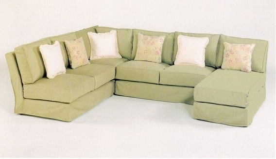 Famous C & L Designs Cl 1604 Slip 4 Pc Custom Armless Sectional Sofa With With Armless Sectional Sofas (View 8 of 10)