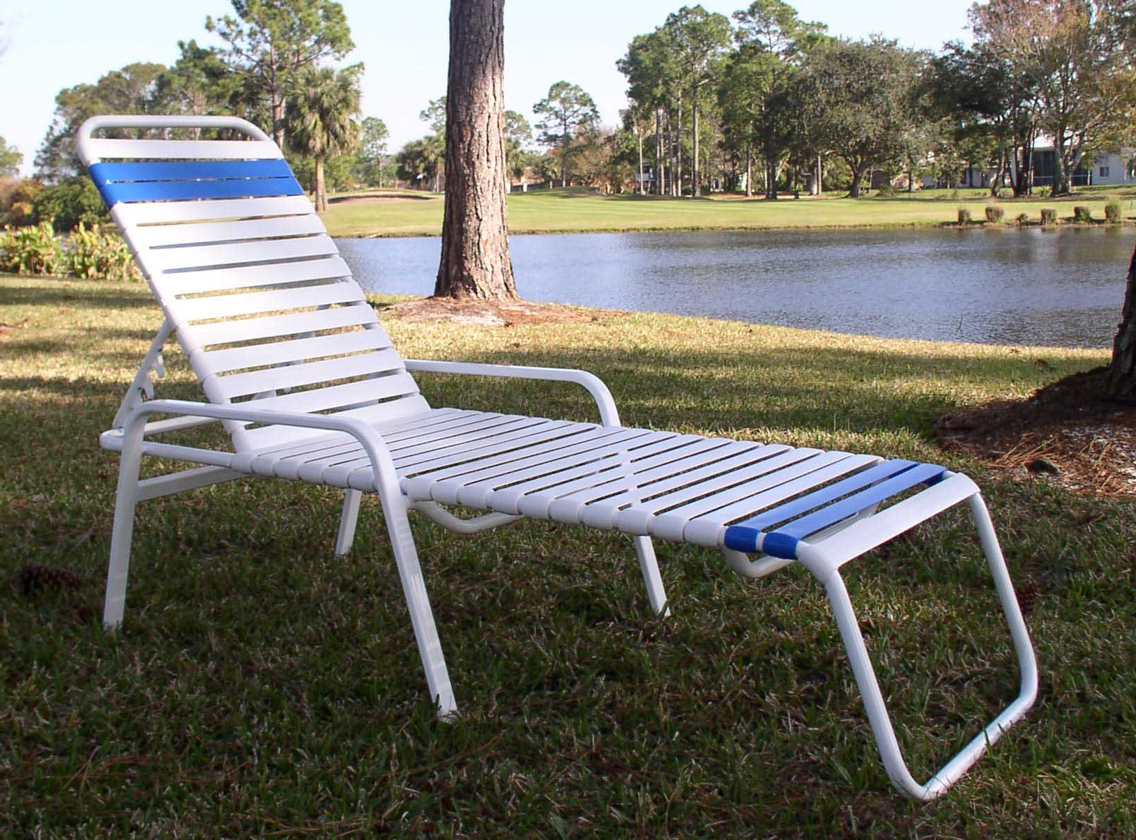 Famous Chaise Lounge Strap Chairs Inside Vinyl Restrapping Your Atlanta Outdoor & Patio Furniture (View 12 of 15)