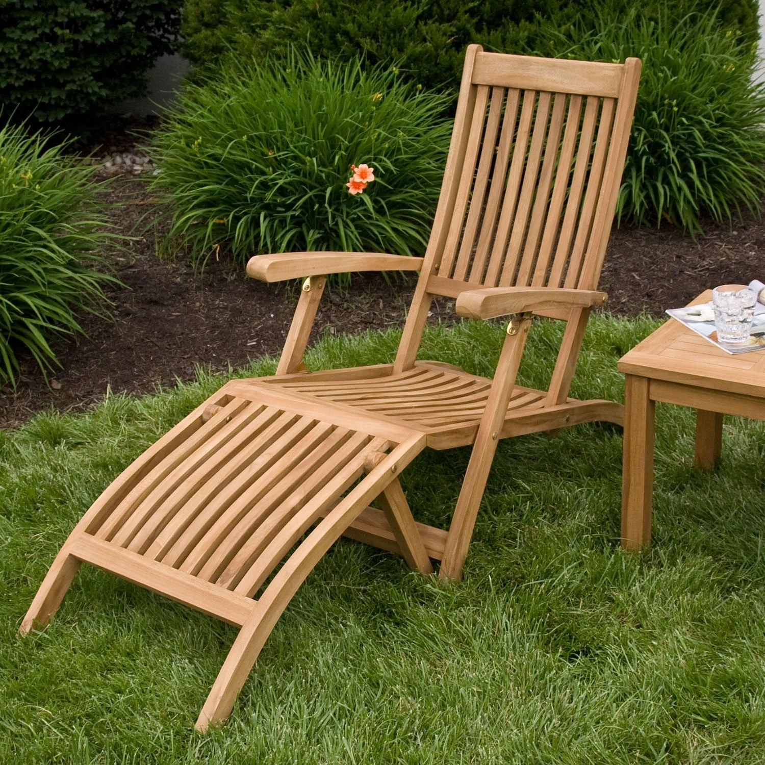 Famous Cheap Folding Chaise Lounge Chairs For Outdoor With Holley Teak Outdoor Folding Steamer Lounge Chair – Outdoor (View 13 of 15)