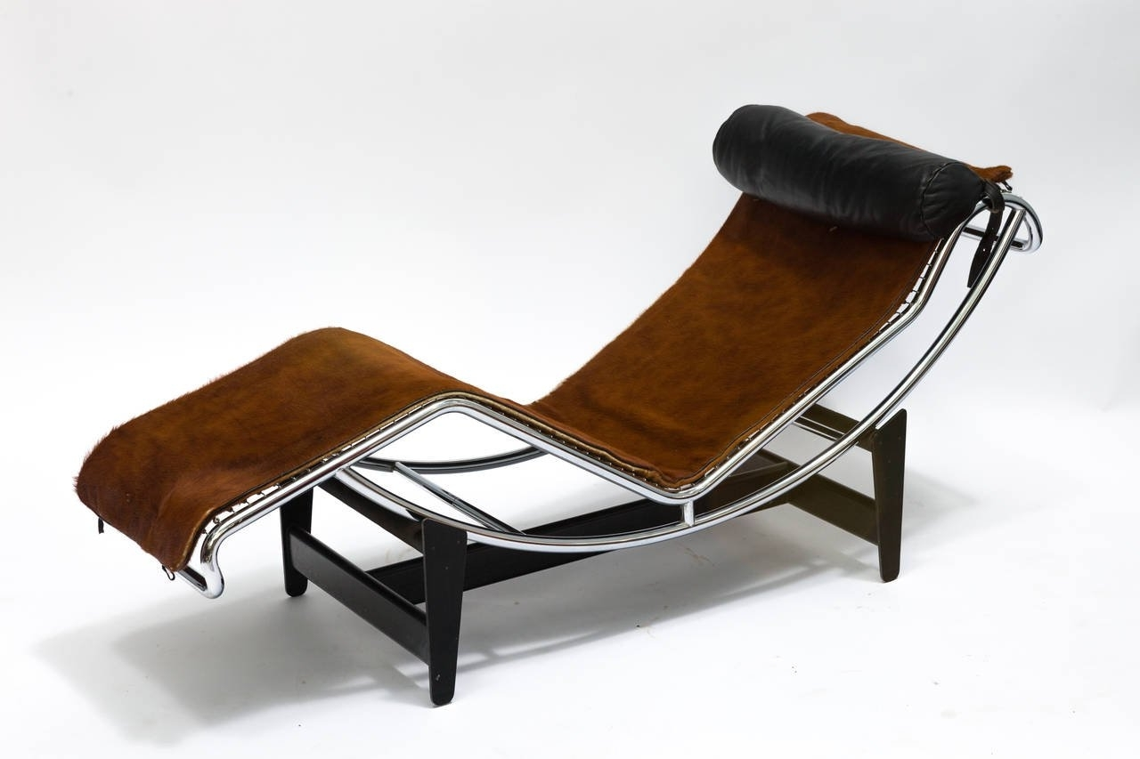 Famous Corbusier Lc4 Chaise Lounge Chair In Cowhide For Sale At 1Stdibs Throughout Lc4 Chaise Lounges (View 6 of 15)